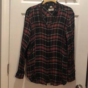 Lott softened button blouse Lg